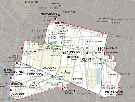 送迎対象ホテル範囲マップ