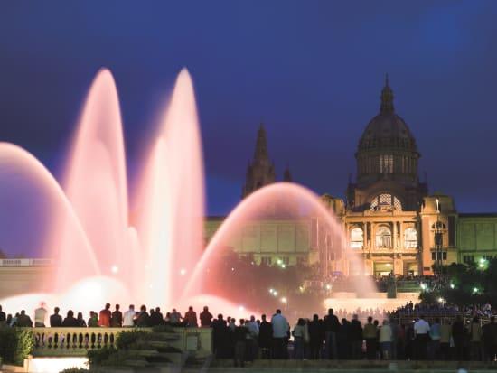 Spain, Montjuic, Magic Fountain, Night Tour