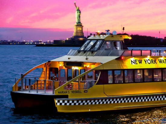 New York Statue of Liberty and City Lights Evening Cruise