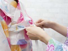 Yukata dressing cropped
