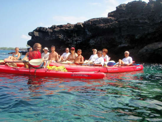 Keauhou Bay Sea Cave Kayak & Snorkeling Adventure in Kona