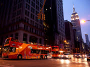 USA_new york_double decker bus tour night