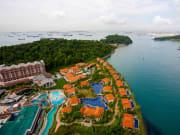 Singapore Sentosa Island Aerial View