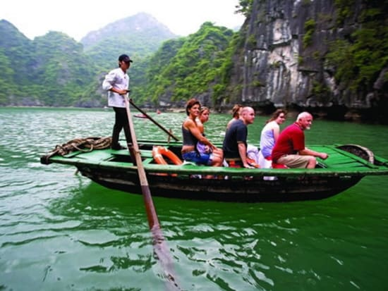 Bamboo rowing boat