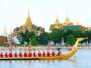 The Grand Palace as seen from Chao Phraya River