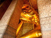 The Reclining Buddha up close