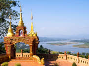 Golden triangle viewpoint is border of 3 countries