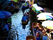 Thailand Damneon Saduak floating market
