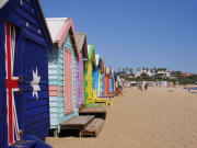Brighton's idyllic row of bathing boxes