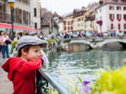 Annecy_Town with  preschool boy