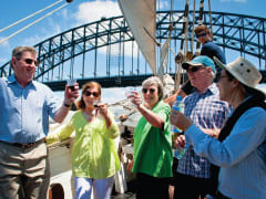Tall ship lunch cruise Sydney