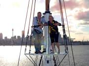 sunset cruise tall ship sydney harbour australia
