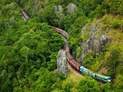Kuranda village Scenic Railway train