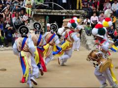folk village procession