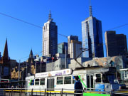 Melbourne cityscapes and railway station