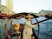 sampan boat ride aberdeen harbour hong kong