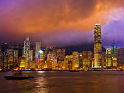 Victoria Harbour night cruise hong kong skyline