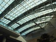 glass roof of incheon international airport