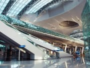 inside Incheon International Airport empty floor
