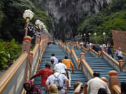 272 steps flight of stairs to the batu caves
