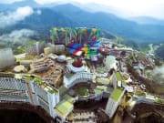 Genting Highlands theme park aerial view
