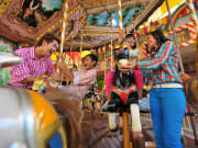 sunway lagoon amusement park family carousel ride