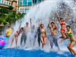 sunway lagoon happy tourists water attractions