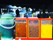 colorful drinks at kota kinabalu night market