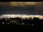 Cebu at night illuminated by city lights