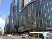 makati cbd skyscrapers and busy street
