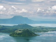 taal volcano and lake viewed from afar