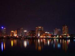 manila bay cruise cityscape night lights