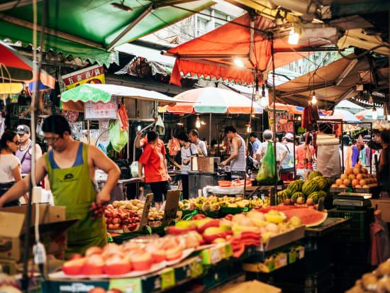 Taipei Xinyi District traditional market