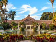 Balboa park Botanical building and pond-crop