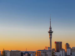 Auckland Tour Auckland Sunset Cityscape Sky Tower