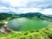 philippines taal volcano lake inside the crater