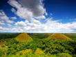 bohol chocolate hills and lush green forest