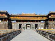 Walled fortress entrance to Hue Imperial City