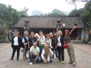 Group photo at Dinh Tien Hoang Temple
