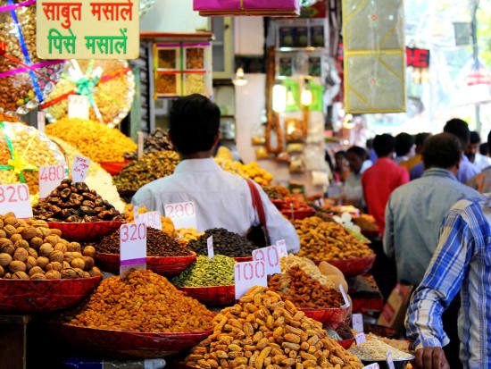 Visit a market and find a variety of spices
