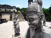 Statues at the tomb of vietnamese emperor