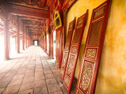 hall with golden ornate details in Hue citadel
