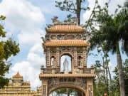Entrance at the Vinh Tranh Pagoda _229026973