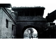 Beijing Hutong in black and white