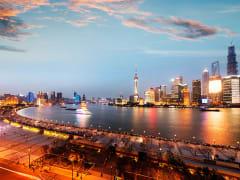 The Bund overlooking Huangpu River
