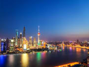 Huangpu River and Shanghai skyline