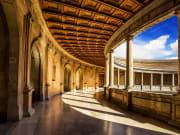 Courtyard of the Palacio de Carlos in Alhambra