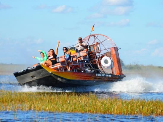 Miami Double Decker Bus City Tour And Everglades Airboat Adventure