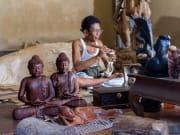 Wooden Crafts in Mas Village Bali Indonesia
