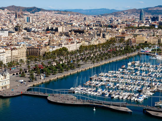 Panoramic view of the Old Port